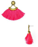 Aqua Layla Fringe Drop Earrings - 100% Exclusive
