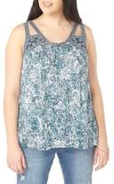 Evans Plus Size Women's Cutout Crinkle Tank