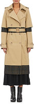 Maison Margiela Women's Twill & Flannel Deconstructed Trench Coat-TAN