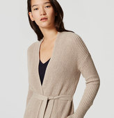 LOFT Belted Ribbed Cardigan