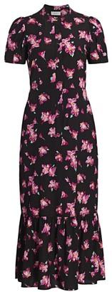 A.L.C. Dylan Floral Midi Dress