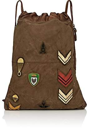 Campomaggi Women's Canvas & Leather Drawstring Backpack - Green