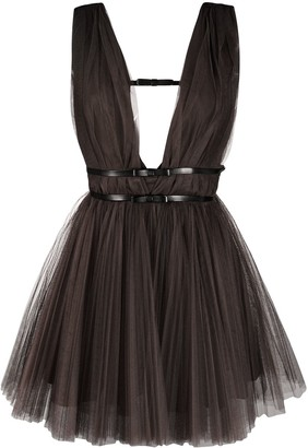 Brognano Belted Tulle Dress