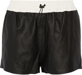 Alexander Wang Leather track shorts