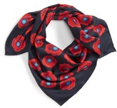 Tory Burch Women's Poppy Silk Square Scarf