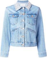Etoile Isabel Marant Christa denim jacket - women - Cotton/Buffalo Bone - 36