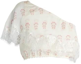Athena Procopiou - Summer Morning Silk Top - White Multi