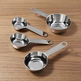 Crate & Barrel 4-Piece Stainless Steel Measuring Cup Set