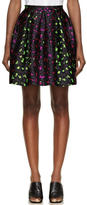 Christopher Kane Pink and Green Silk Leopard Princess Skirt
