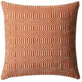 Loloi Rugs Poly-Set Pillow Cover, Orange and Ivory