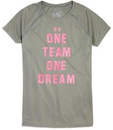 Under Armour Girls' One Team One Dream Performance Tee - Sizes XS-XL