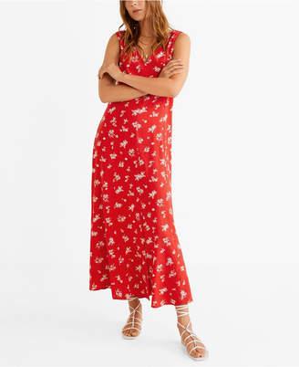 MANGO Floral Print Maxi Dress