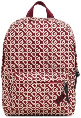 Dolce & Gabbana All Over Logo Print Nylon Backpack