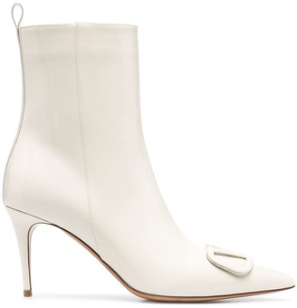 Valentino VLOGO Signature pointed toe ankle boots