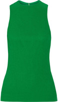 Protagonist Plissé-crepe Top - Bright green