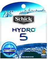Schick Hydro 5 Razor Blade Refills for Men with Flip Trimmer - 8 Count