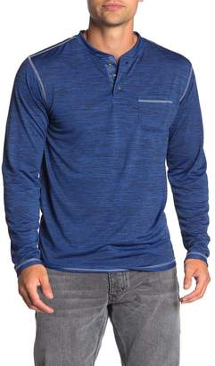 Burnside Heathered Long Sleeve Henley Shirt