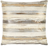 Barneys New York Metallic-Striped Pillow
