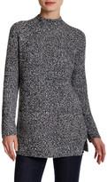 Chaus Mock Neck Pocket Sweater