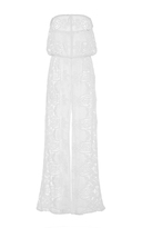 Miguelina Piper Embroidered Strapless Jumpsuit