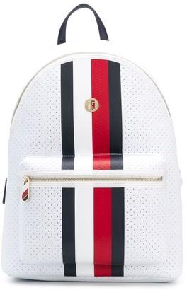 Tommy Hilfiger Poppy logo stripe backpack