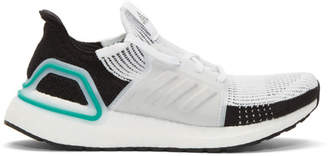 adidas White and Black UltraBoost 19 Sneakers