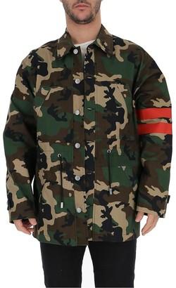 GCDS Camouflage Logo Back Jacket
