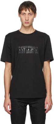 Saint Laurent Black Bauhaus Logo T-Shirt