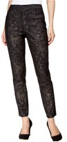 Style&Co. Style & Co. Womens Curvy Fit Metallic Skinny Jeans Black
