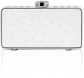 "Bougeotte Titanium ""Best Secret Keeper"" Clutch in White Ostrich"