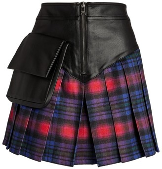 Natasha Zinko Check Mini Skirt