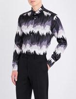 Brioni Nasdaq-printed regular-fit stretch-silk shirt