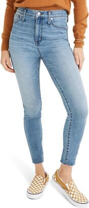 Madewell 10-Inch High Waist Raw Hem Edition Skinny Jeans