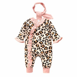 Jumpsuits Floral Leopard Stripes Polka dot Baby Hammock Romper,Knit Rainbow Print Romper Jumpsuit Outfits Playsuit Armilum Infants Long-Sleeved Baby Romper