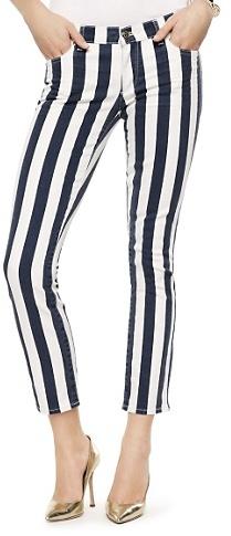 Juicy Jeans Awning Stripe Skinny Crop Jean