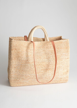 And other stories Large Woven Straw Tote