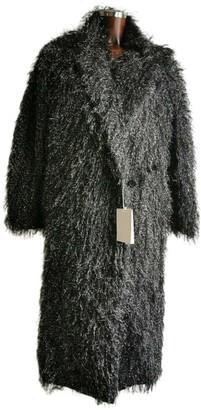 Max Mara Black Faux fur Coats