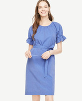 Ann Taylor Puff Sleeve Shift Dress