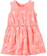 Carter's Neon Floral Jersey Dress