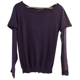 Alberta Ferretti Purple Wool Top for Women