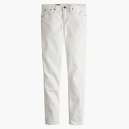 """J.Crew Tall 8"""" toothpick jean in white"""