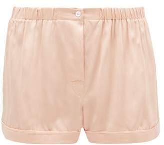 Araks Tia Silk-charmeuse Pyjama Shorts - Womens - Beige