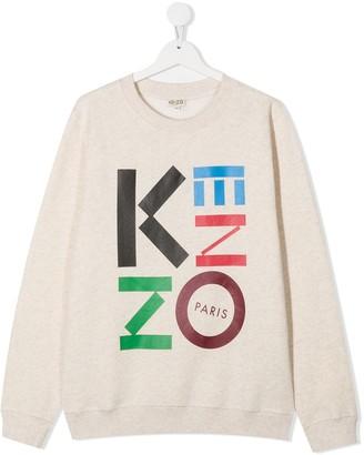 Kenzo Kids TEEN logo-print sweatshirt