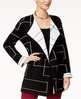 Alfani Colorblocked Sweater Coat, Created for Macy's