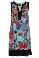 Quiz Multi Coloured Circle Print Tunic Dress