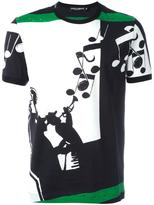 Dolce & Gabbana musical print T-shirt - men - Cotton - 46