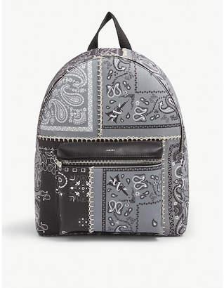 Amiri Bandana-print canvas backpack