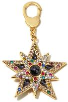 "JAY Jay Strongwater ""Delightful"" Black Enamel and Multicolor Crystal Goldtone Reversible Star Charm"
