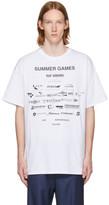 Raf Simons White 'Summer Games' Easy Fit T-Shirt