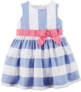 Carter's Blue Stripe Dress, Baby Girls